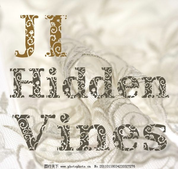 ji hidden vines花纹字体 暗花 藤蔓 哥特 精美字体 英文字体 英文