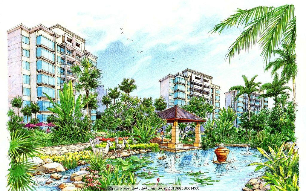 人文景观 园林景观效果图 城市景观 景观平面图 园林景观设计 公园