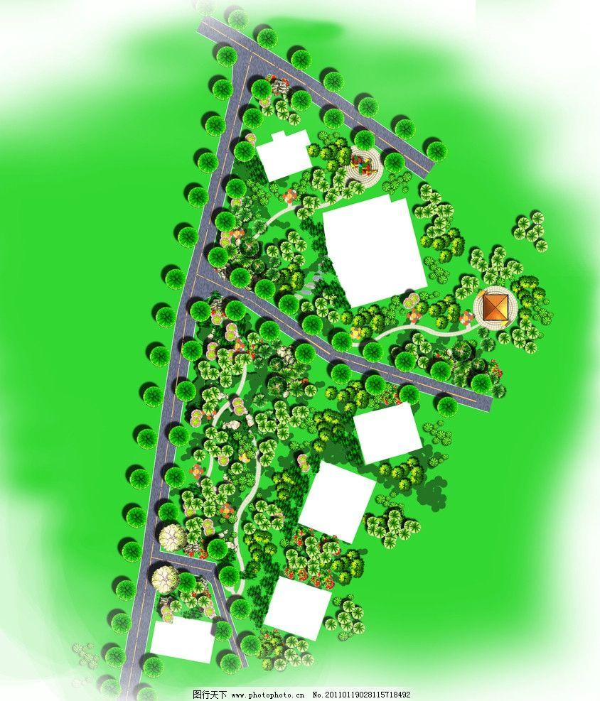 新农村平面 平面素材 植物 园林 绿化 设计 景观效果图 农村 游乐园