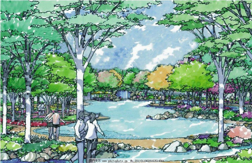城市景观 景观平面图 园林景观设计 公园景观 景观园林 景观规划 环境
