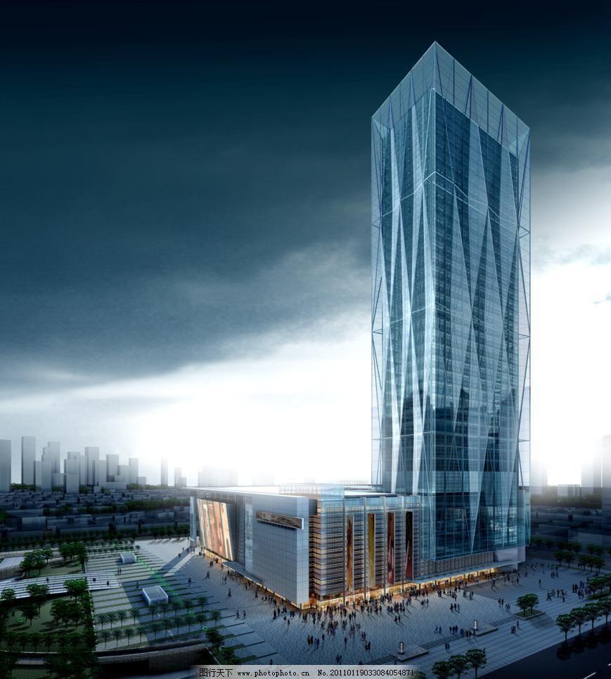3d效果图 玻璃幕墙 城市规划 城市建筑 城市效果图 公共建筑 公建效果