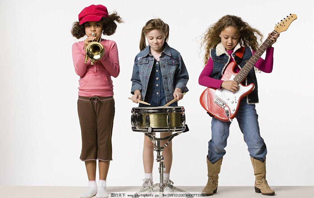 小学生儿童乐队图片