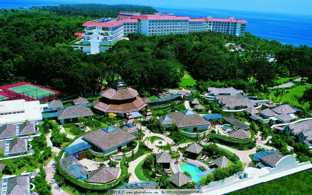 景观鸟瞰图 景观设计 酒店设计 五星级酒店 香格里拉酒店 公园 植物园