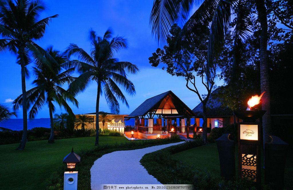 酒店夜景 景观设计 自然景观拍摄 自然风景拍摄 海边 大海 岛屿