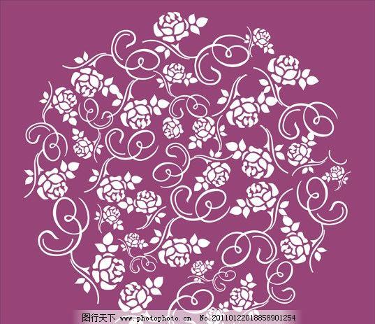 花纹 玫瑰 玫瑰花 文化艺术 传统文化 矢量图 cdr 矢量
