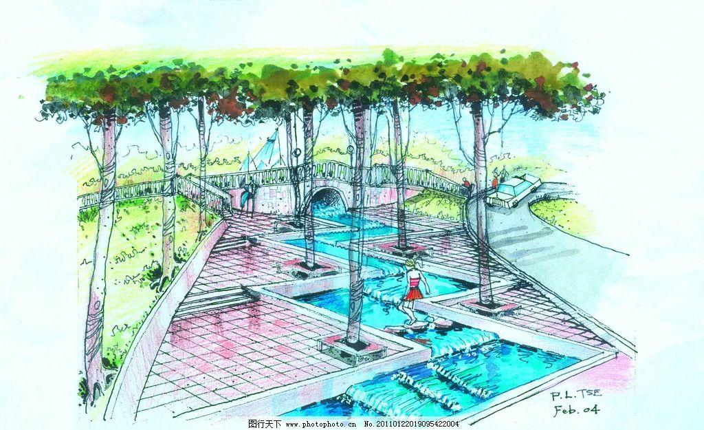 人文景观 园林景观效果图 城市景观 景观平面图 园林景观设计 小区