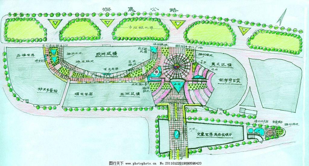 手绘景观 景观手绘 自然景观 园林景观 景观设计 小区景观 建筑景观