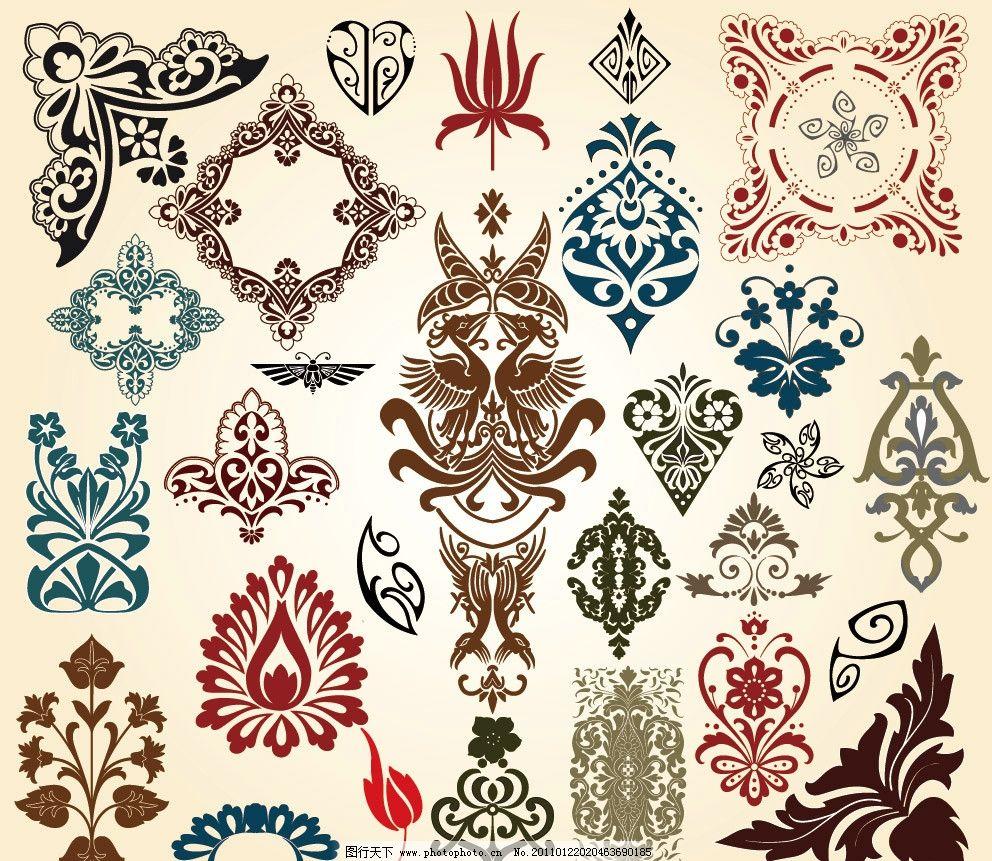 古典花纹花边边框装饰素材 装饰花纹花边 古典花边 古典边框 欧式花纹
