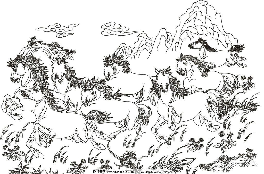 简单画马的画法步骤