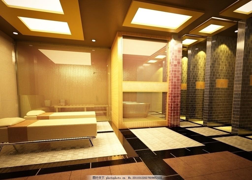 室内装饰 大厅 豪华 迪拜 地毯 抱枕 台灯 布艺 室内设计效果图 欧式