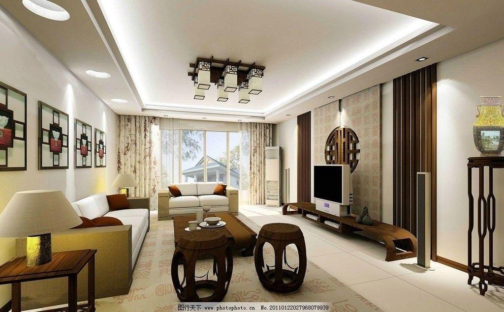室内客厅 隔断 餐厅 灯光 简约 实用 凳子 台灯吊灯 吊顶 影视墙