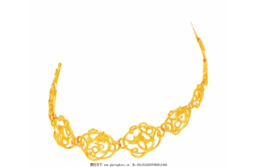 黄金项链 黄金 项链 花纹 龙纹 凤纹 金项链 首饰 饰品 金银 手饰珠宝