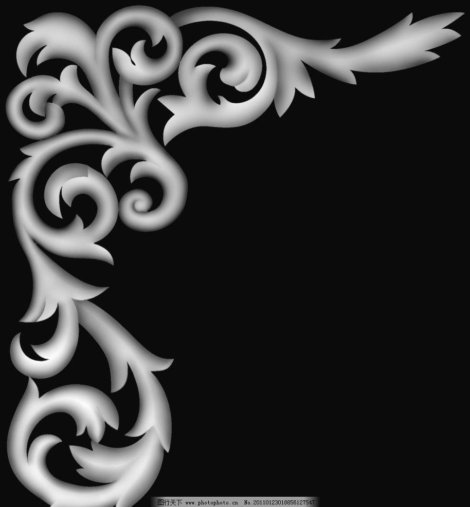 精雕灰度图免费下载玫瑰椅围板