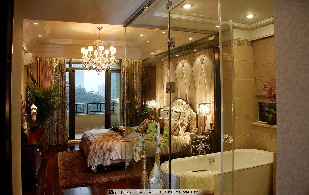 别墅 豪华 水晶吊灯 浴缸 走廊      温馨 欧式豪华别墅内景