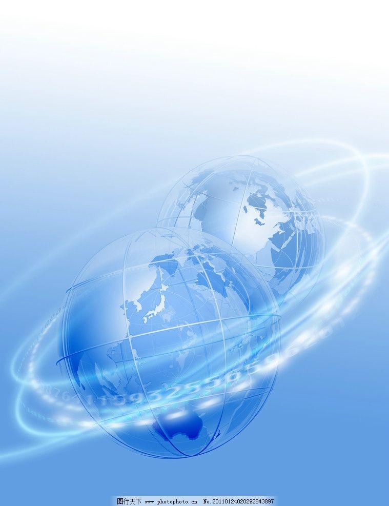 动感线条地球科技背景图片