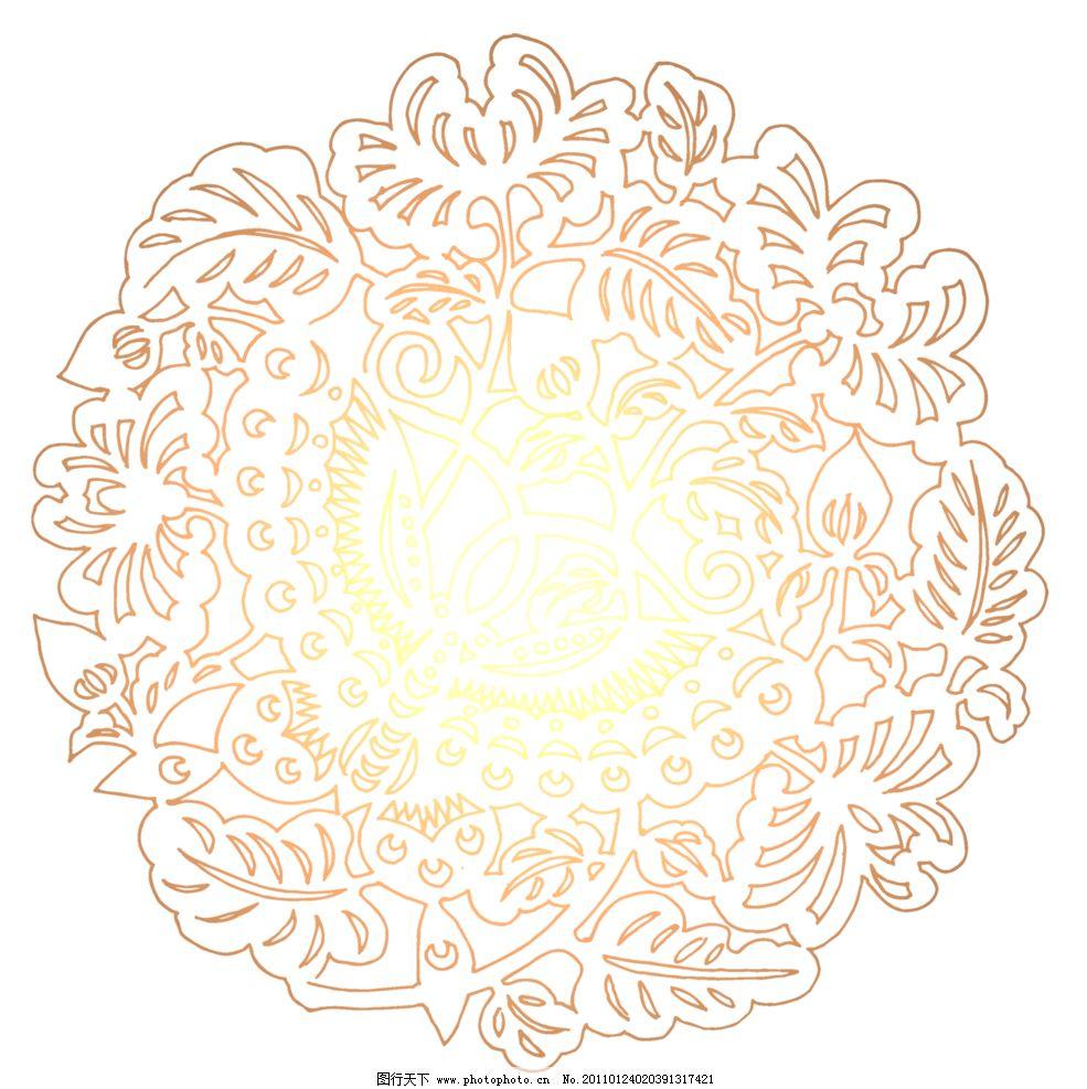 年素材 花纹 古典花纹 中国风 png素材 花边花纹 底纹边框 设计 118