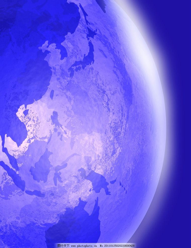 蓝色地球科技背景图片