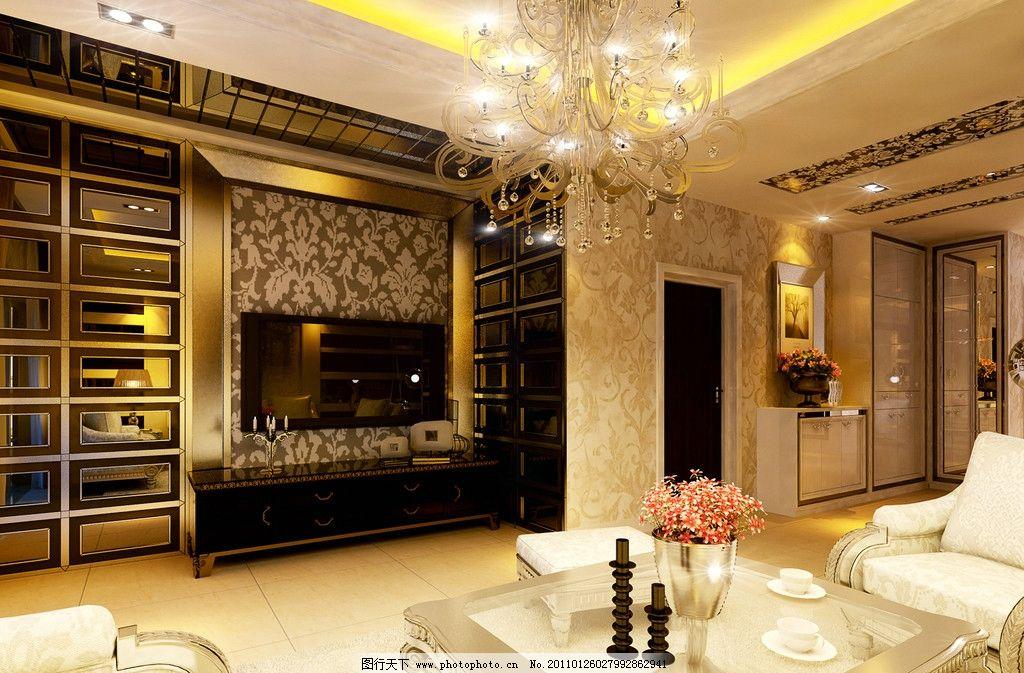 欧式 欧式客厅 沙发 吊灯      室内设计 环境设计 设计 300dpi jpg