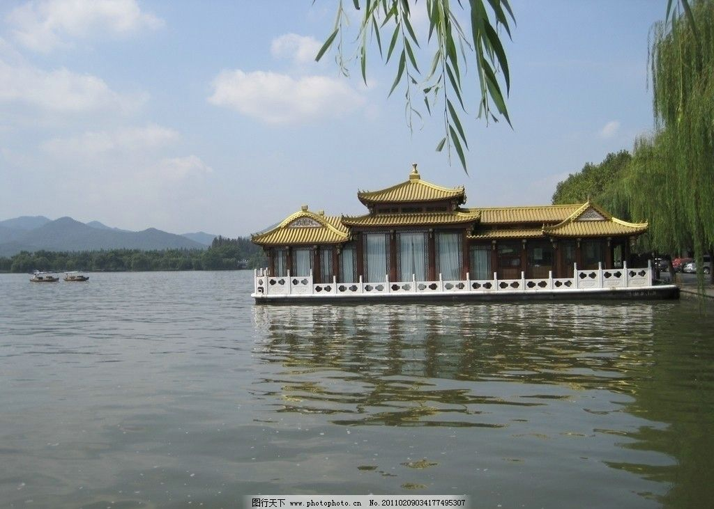 西湖 西湖风景 亭子 风景 自然风景 旅游摄影 摄影 180dpi jpg