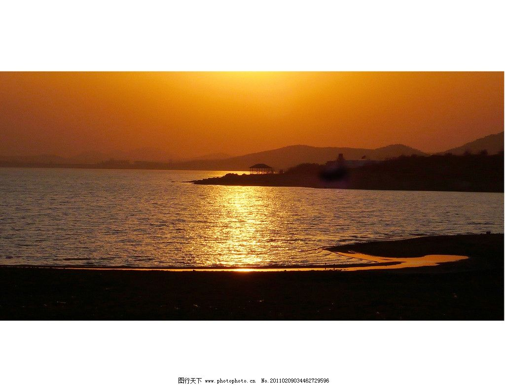 天湖音符 莒南 天马岛 天湖 夕阳 山东 山水风景 自然景观 摄影 300