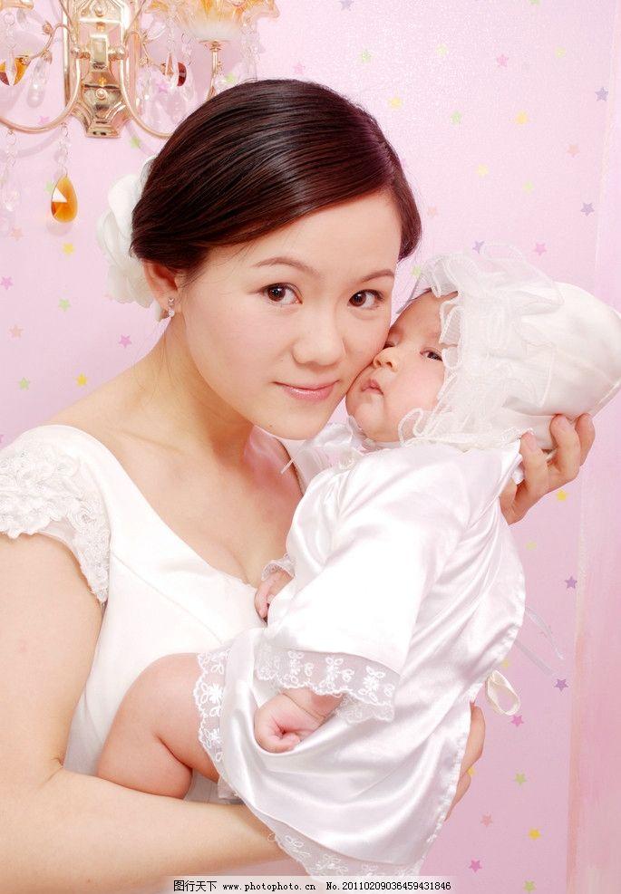 亲子照 宝贝 百天 周岁 半岁 儿童摄影 可爱 母子 亲情 儿童幼儿 人物