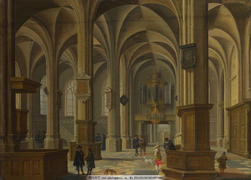 设计图库 文化艺术 绘画书法  建筑油画 油画 欧洲油画 珍藏 壁画