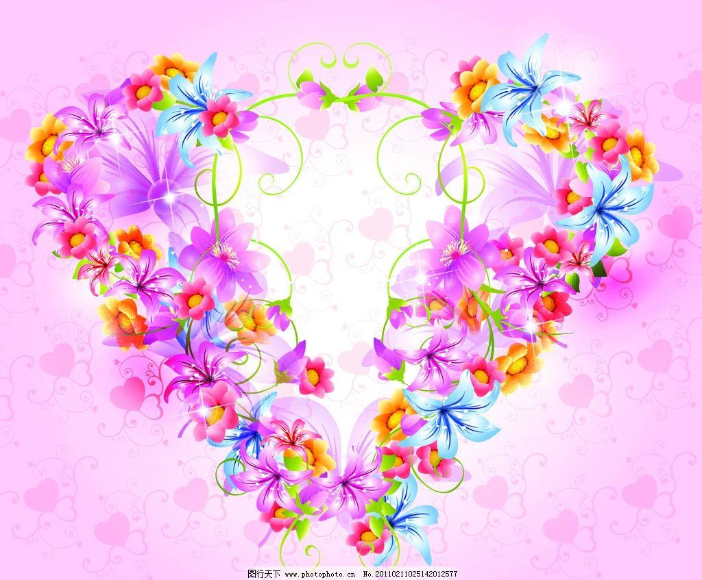 梦幻花卉 梦幻花朵 时尚 潮流 花蕊 唯美 鲜花 华丽 动感 光亮