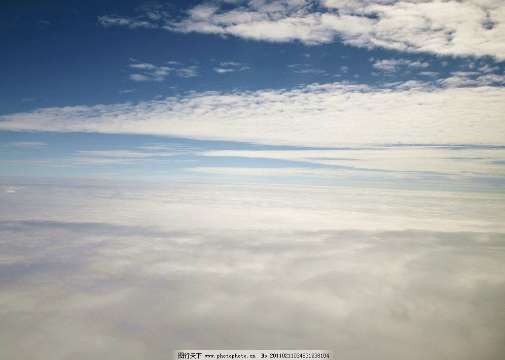 蓝天白云 航拍 云朵 云海 自然风景 自然景观 摄影