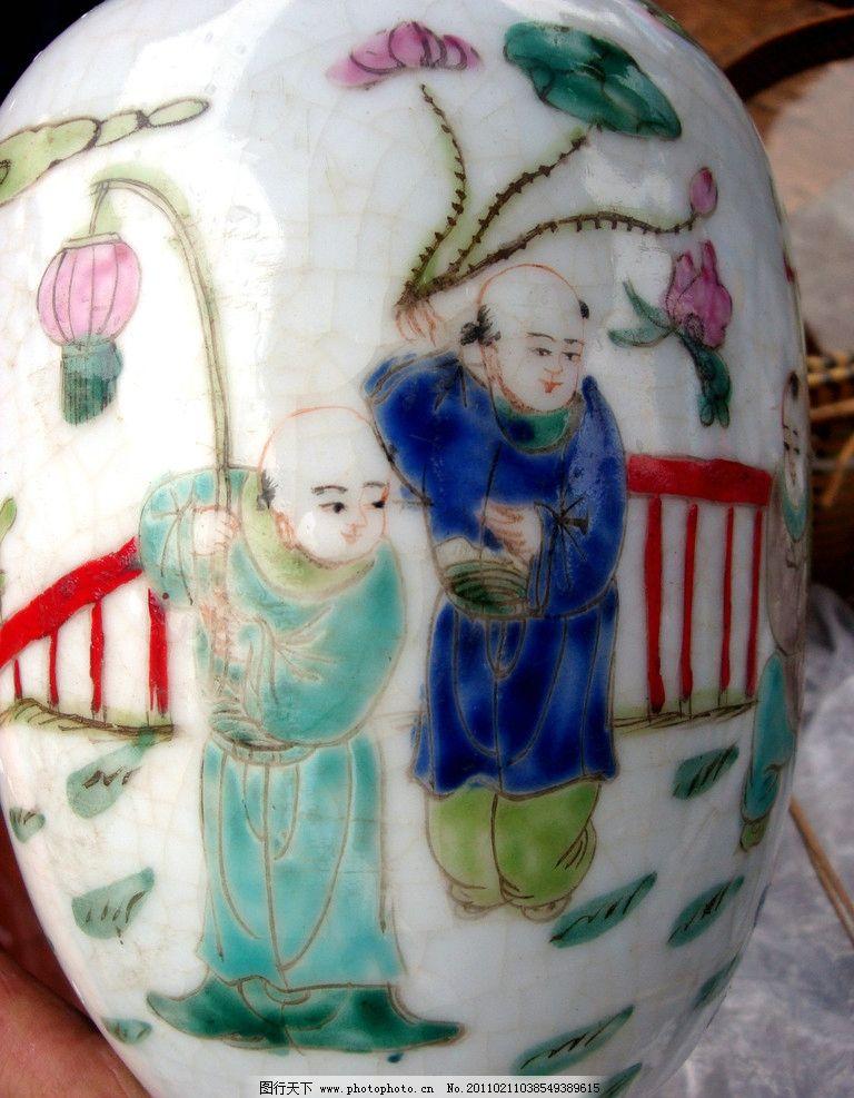 古董花瓶 瓷器 花纹 图片素材 其他 摄影