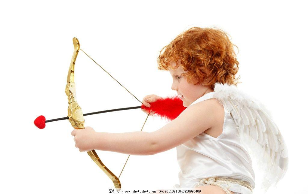 射爱心红心的小天使 爱心 红心 弓箭 小天使 孩子 可爱 婴儿宝宝设计