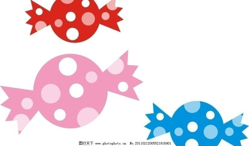 缤纷糖果 缤纷糖果图片免费下载 餐饮美食 粉色 红色 可爱 蓝色