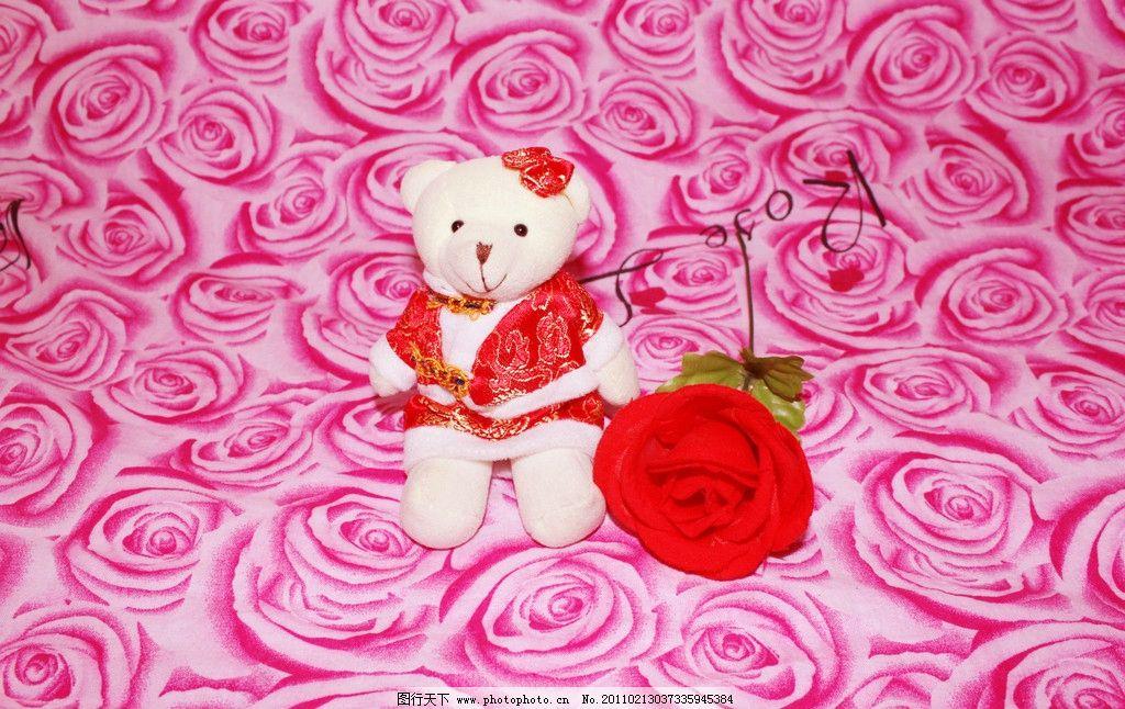 情人节玩具熊 可爱 小熊 情人节摆件 毛绒 爱情 爱意 玩具熊 玫瑰
