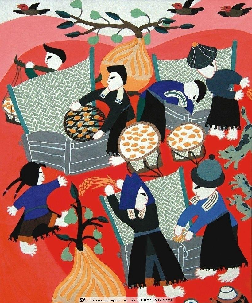 农民画打稻 农民画 打稻 绘画书法 文化艺术 设计 600dpi jpg