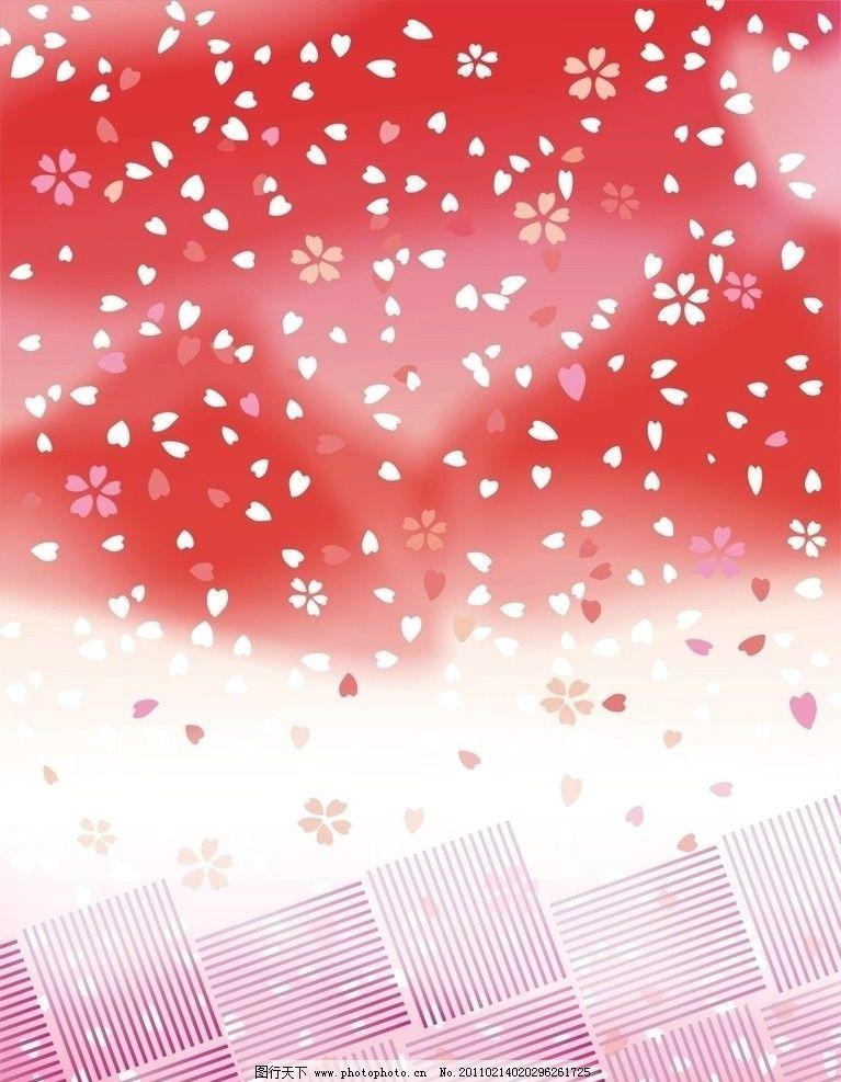樱花底图 花纹 底纹 底纹背景 矢量 cdr 樱花 底纹边框