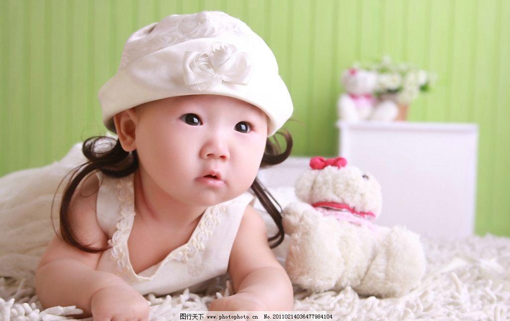 可爱 宝宝 百天 高清图片