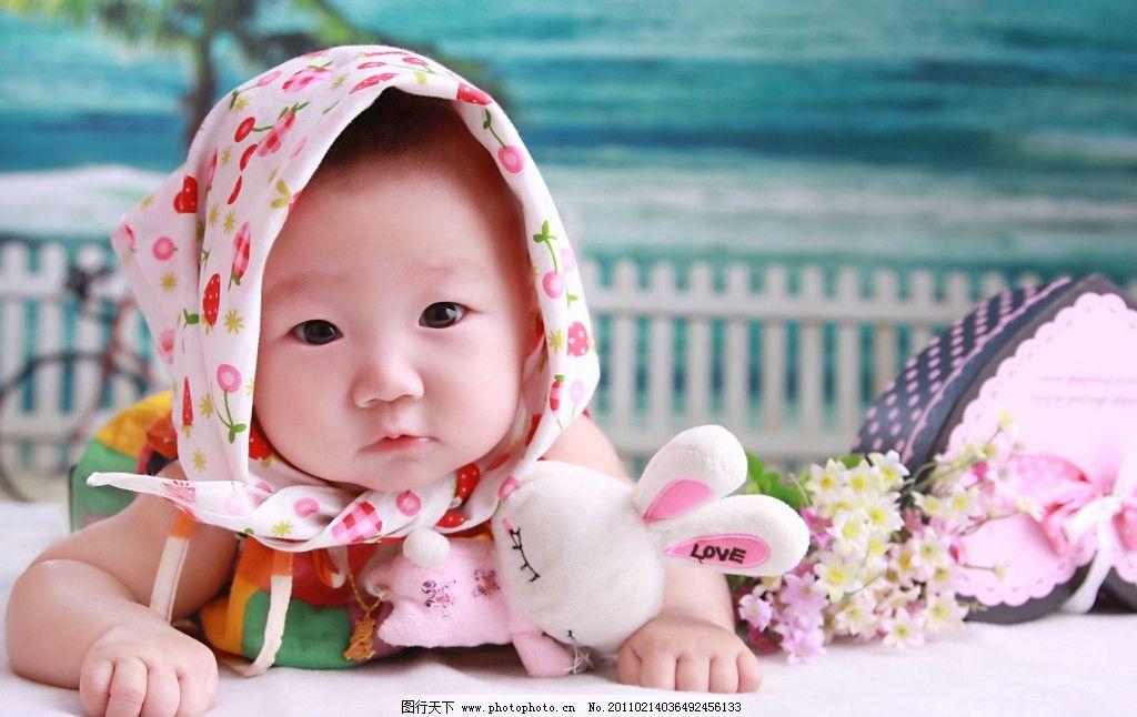可爱 宝宝 百天 女孩 儿童 高清 儿童幼儿 人物图库 摄影 72dpi jpg