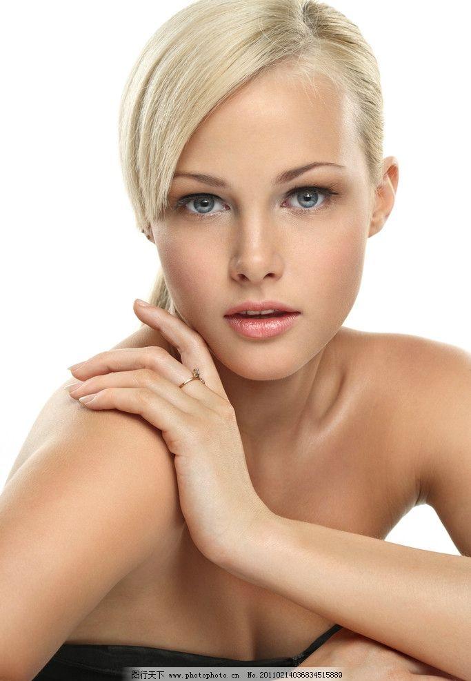 美女脸部特写 写真 头发造型 发型 发艺 妆容 妆面 美发 美女模特图片