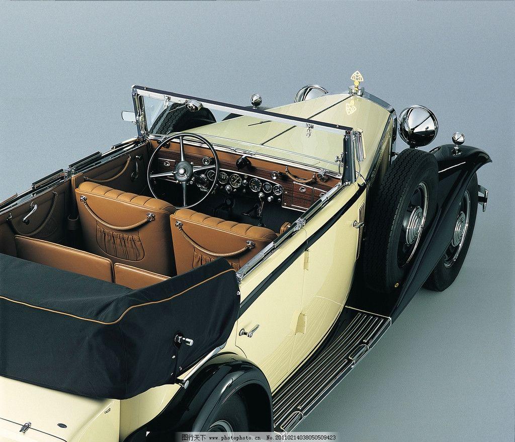 迈巴赫老爷车俯视全景 汽车 交通工具 名车 豪车 豪华 奢侈 昂贵