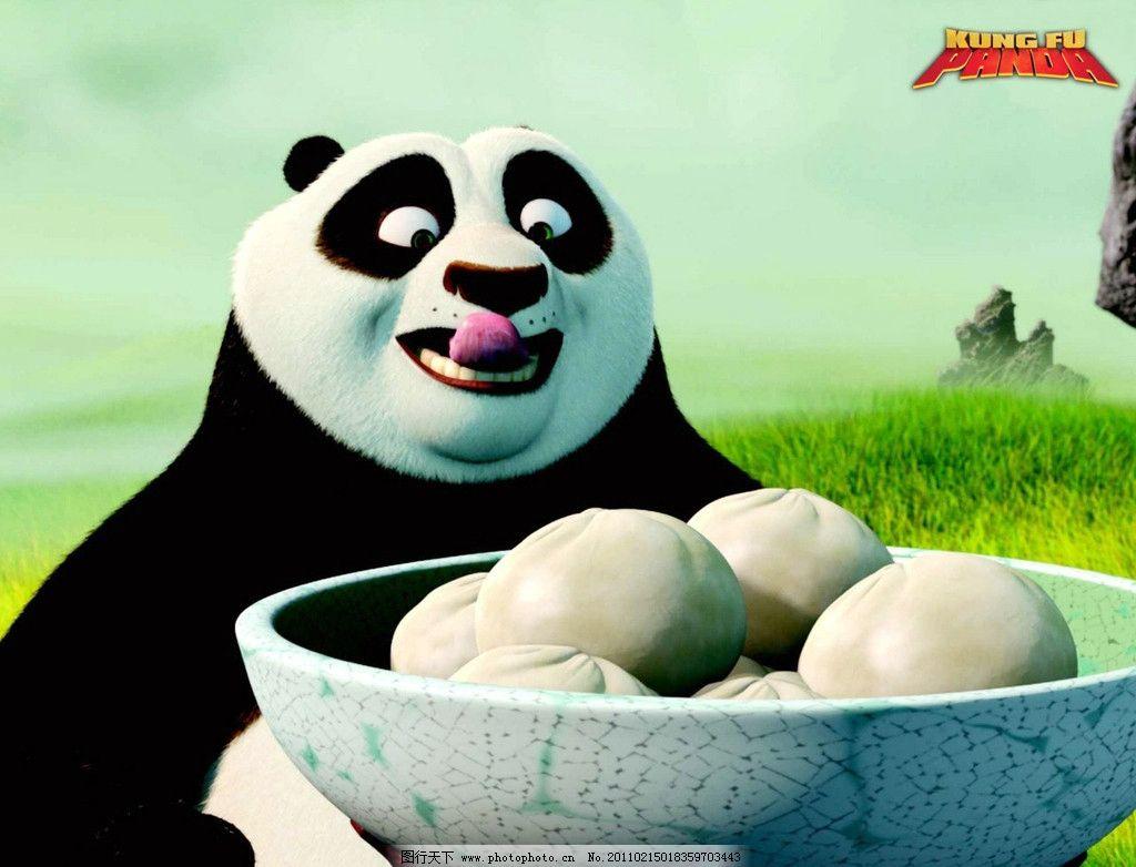 熊猫风景馒碗动漫物