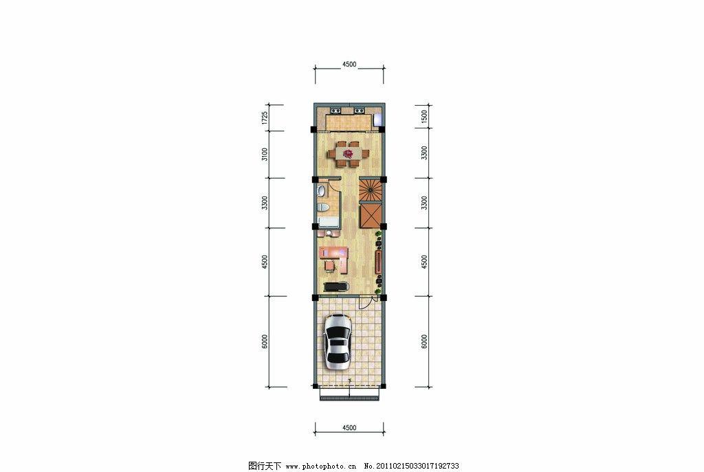 室内平面效果图 室内平面图 户型素材 沙发 桌床 家具 卫生间