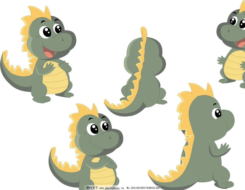 卡通小恐龙图片
