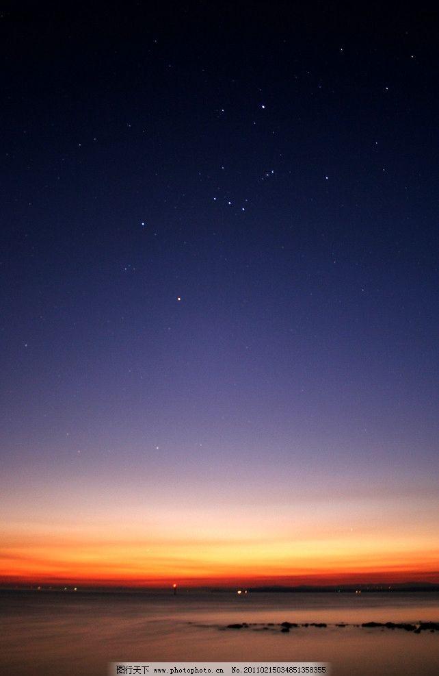 大地苍穹 日出 傍晚 大海 海边 背景 美丽风景 天空 星空 极光