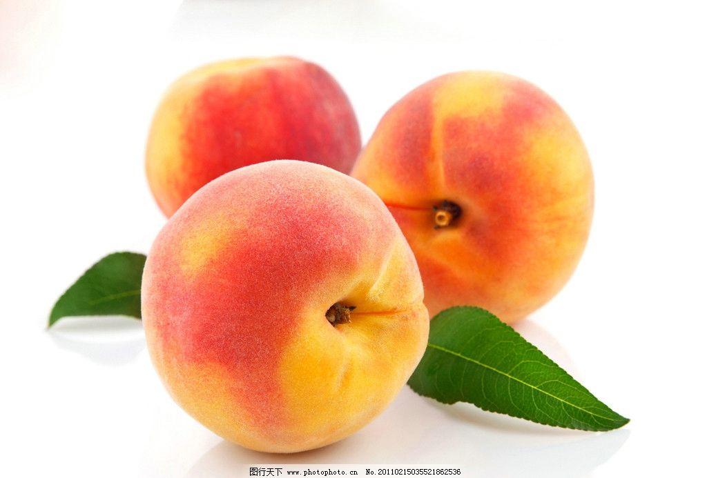 桃子图片,水蜜桃 红桃子 鲜嫩桃子 绿叶水果 蔬菜水果