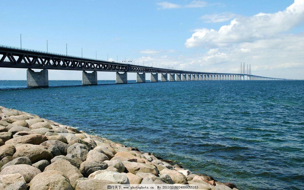 跨海大桥 桥梁 横渡 国家 美丽风景 自然风景 自然景观 摄影