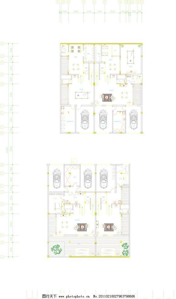 别墅设计地下一层平面图 平面户型图 室内设计 建筑家居 矢量 ai