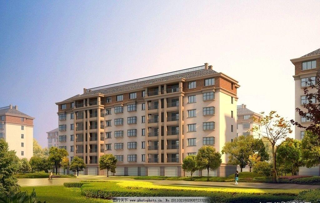 多层及小高层住宅水景效果图图片_建筑设计_环境设计