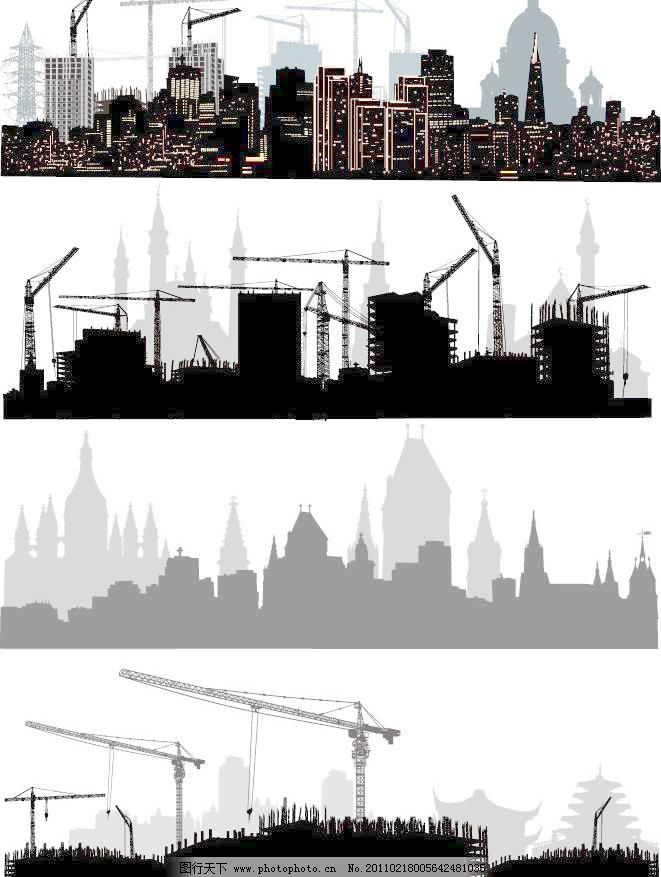 剪影 城市剪影 都市剪影 楼房剪影 高楼剪影 大厦剪影 古典建筑 欧式