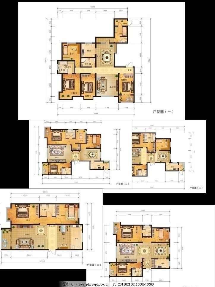 家居平面图图片_室内设计_装饰素材_图行天下图库
