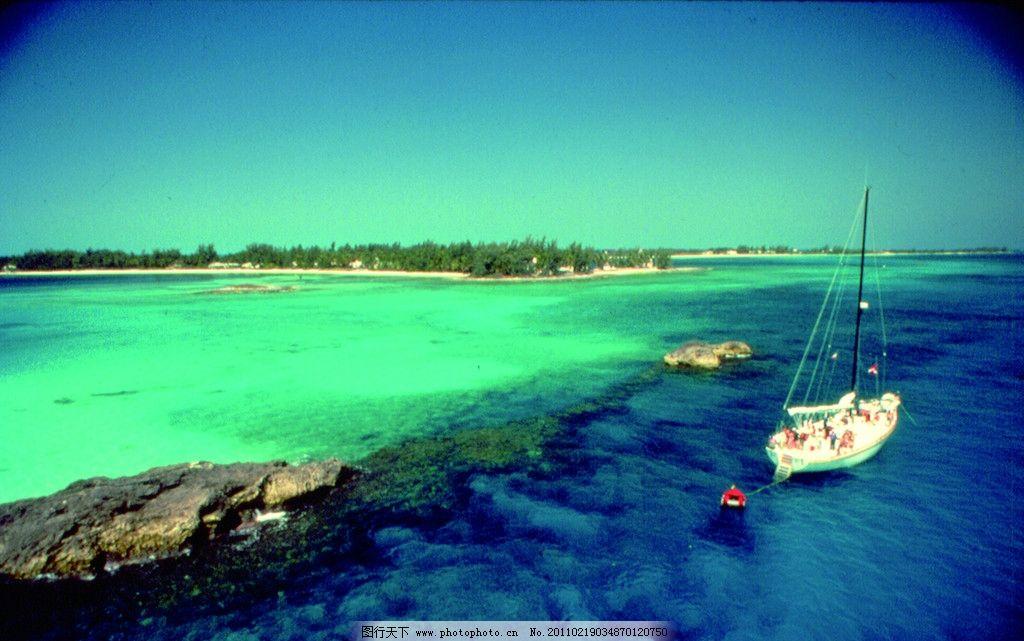 设计图库 自然景观 自然风景  巴哈马美丽海滩 巴哈马 海滩 傍晚 清晨
