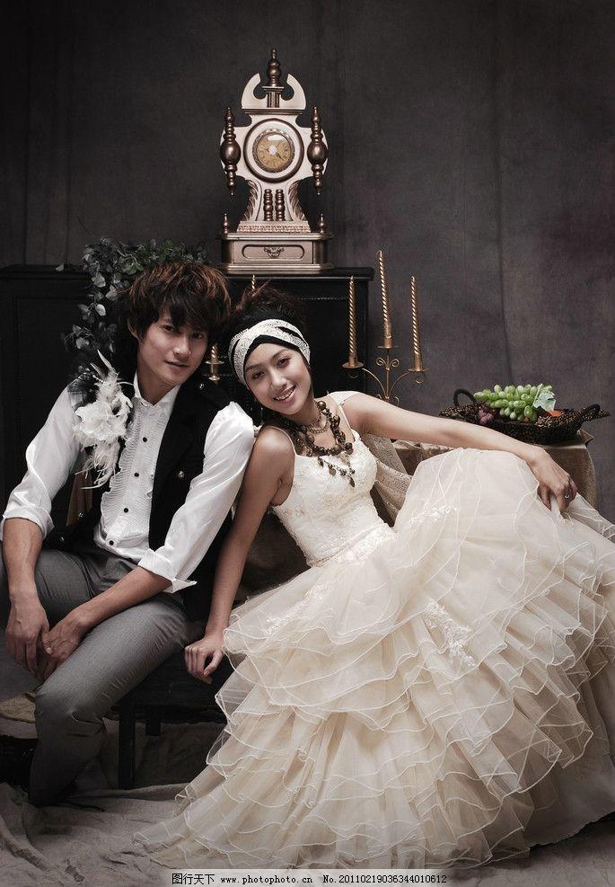 婚纱照 欧式 古典图片